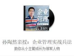 孙陶然亲授企业管理实战兵法音频百度云网盘下载全集在线收听