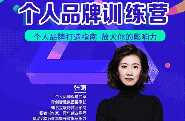 《张萌萌姐个人品牌训练营》百度云下载链接地址完结